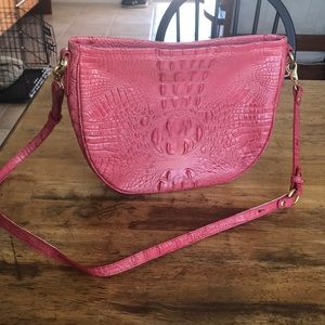 Scaly-styled Leather Bag